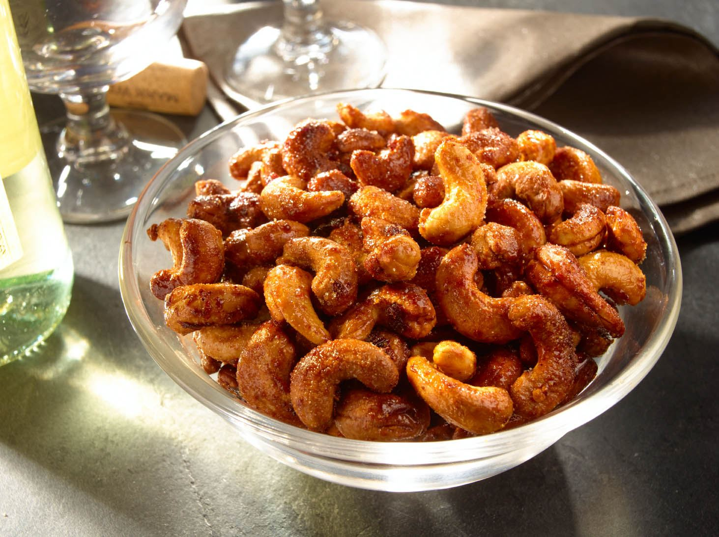 Smoky Honey-Chipotle Roasted Cashews