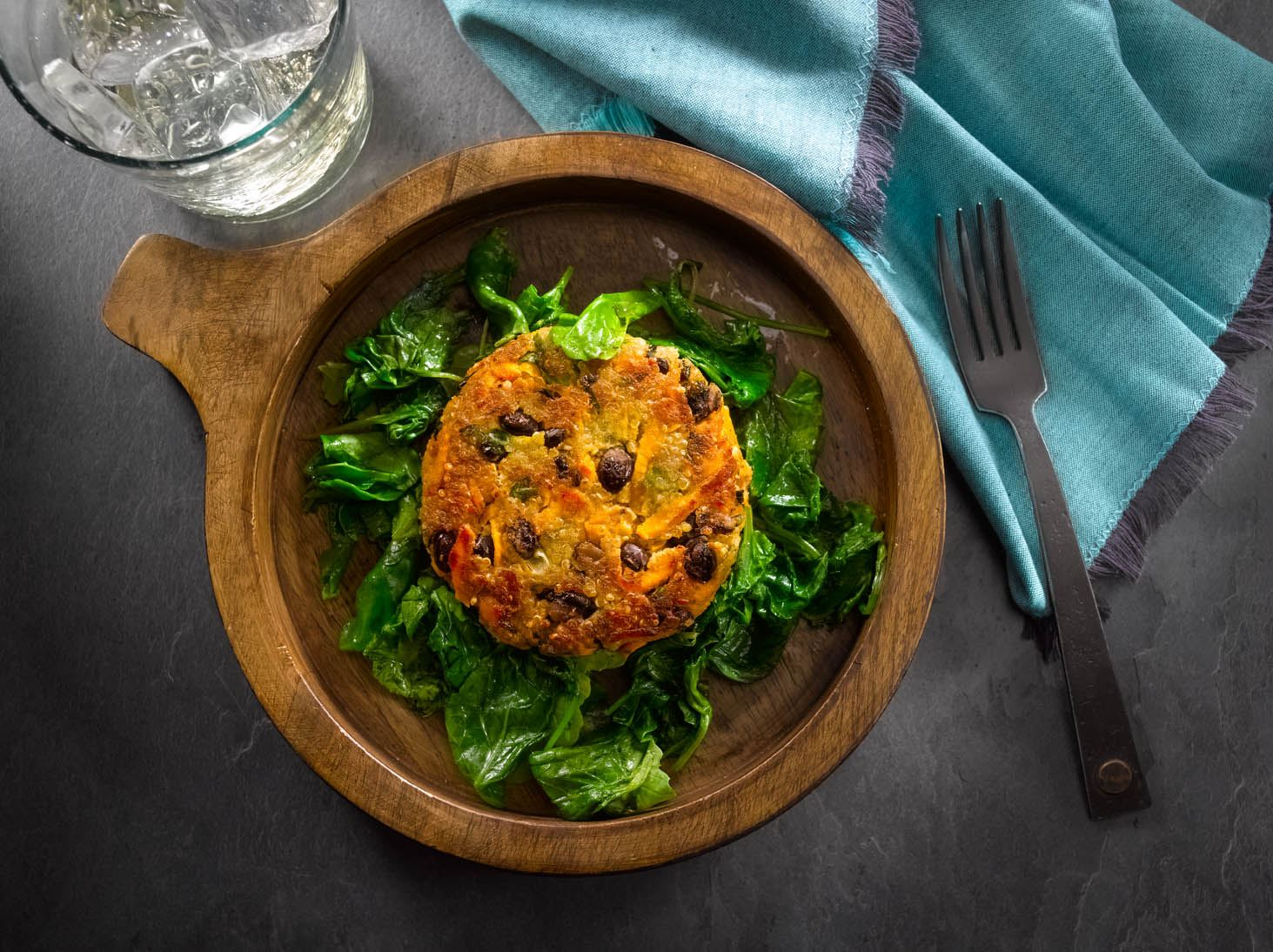 MyPlate Quinoa, Black Bean and Sweet Potato Cakes