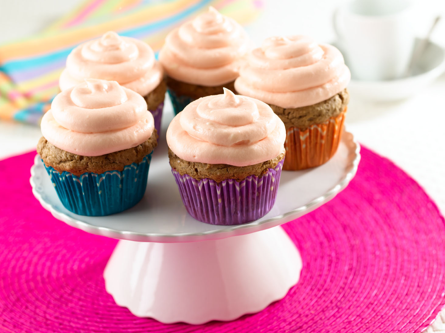 Black Bean Cupcakes with Guava Frosting