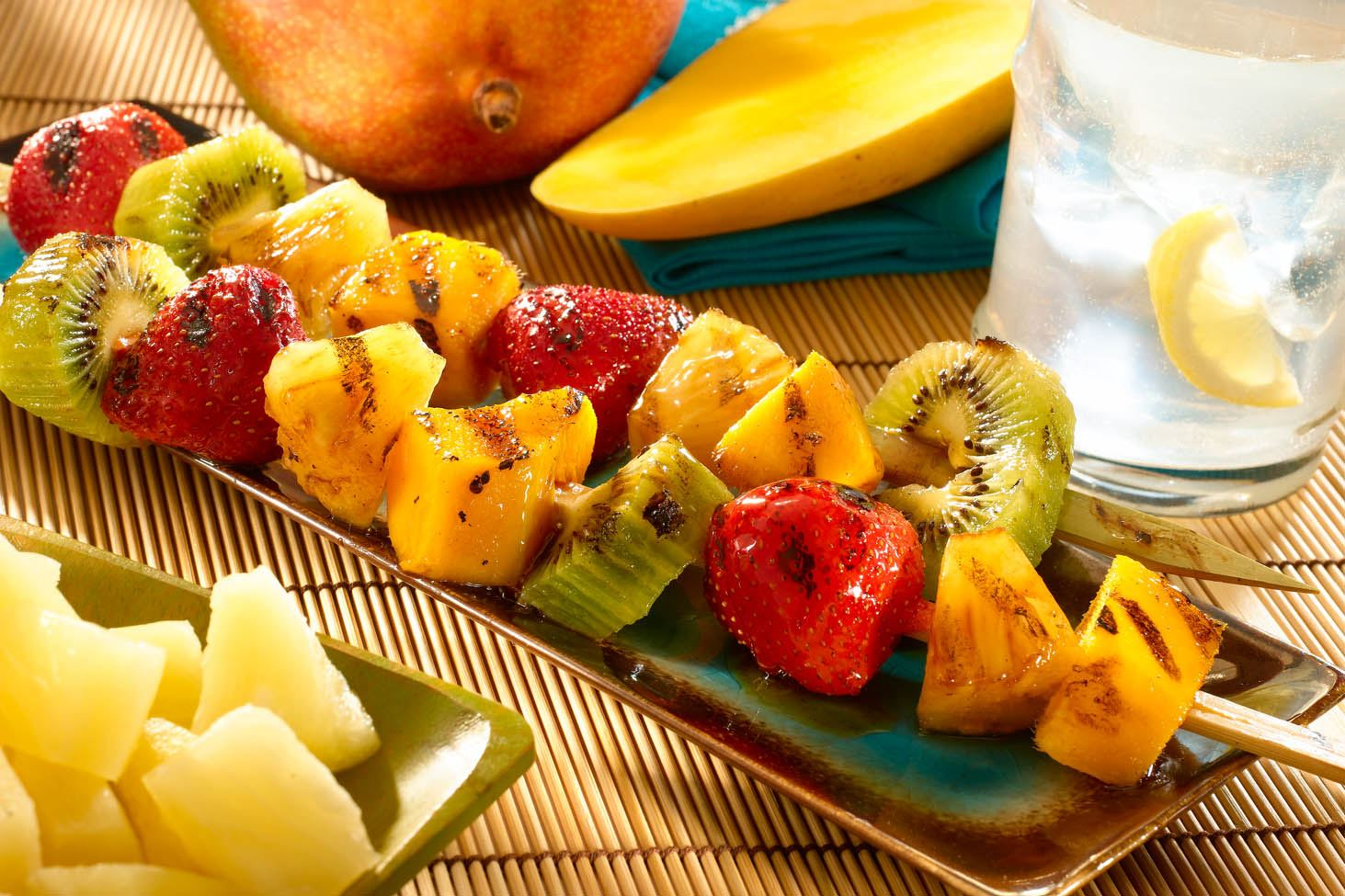 Caribbean Fruit Skewers