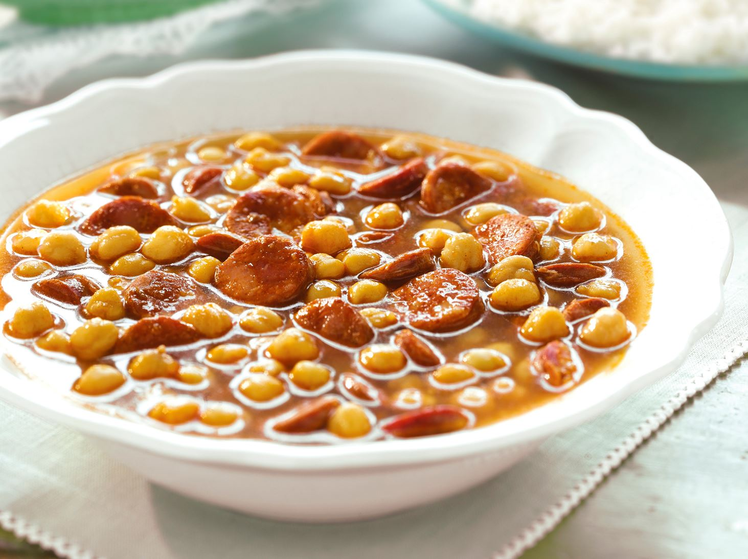 Chickpea Soup with Chorizo