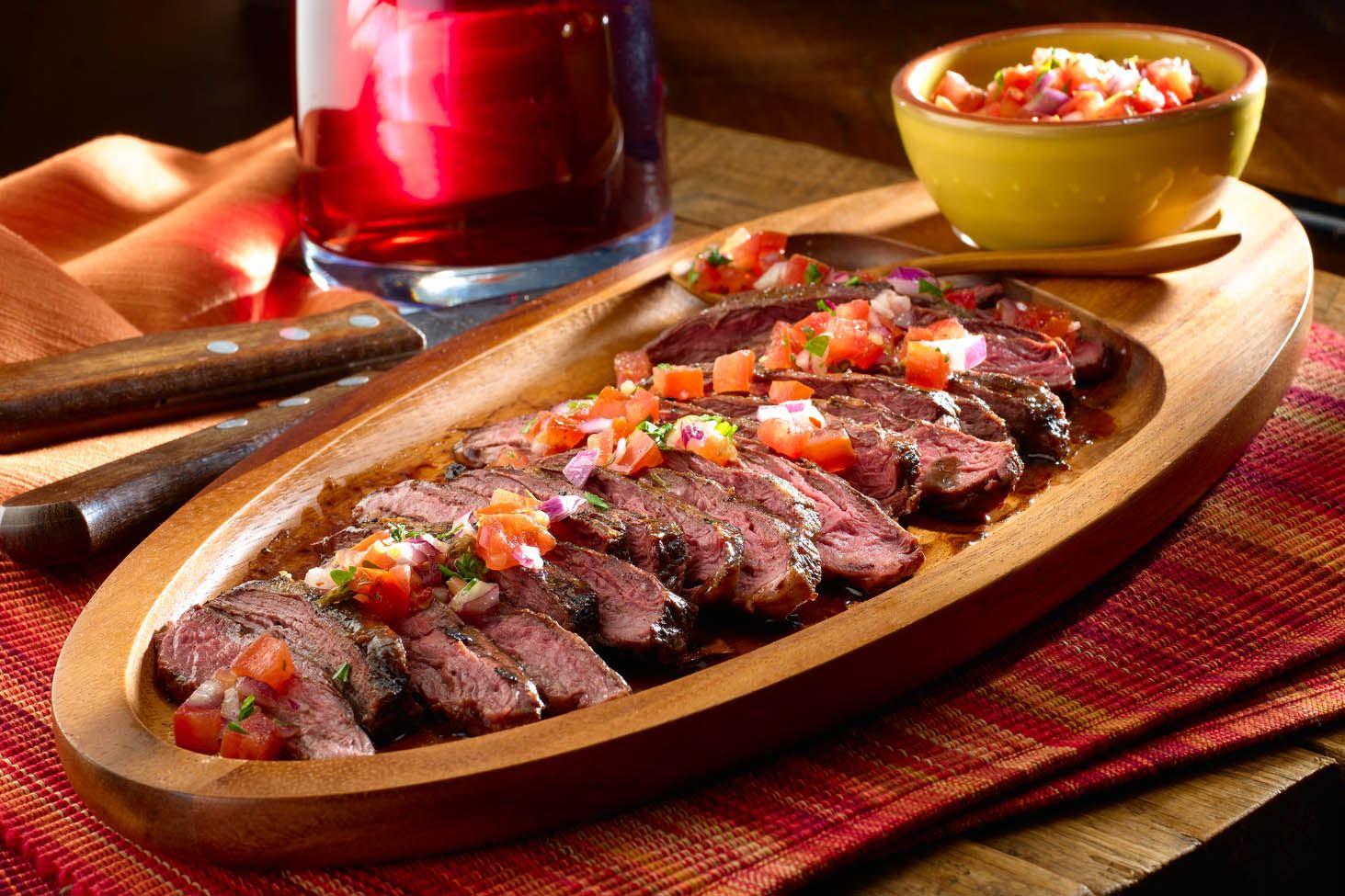 Argentinean Grilled Steaks with Salsa Criolla