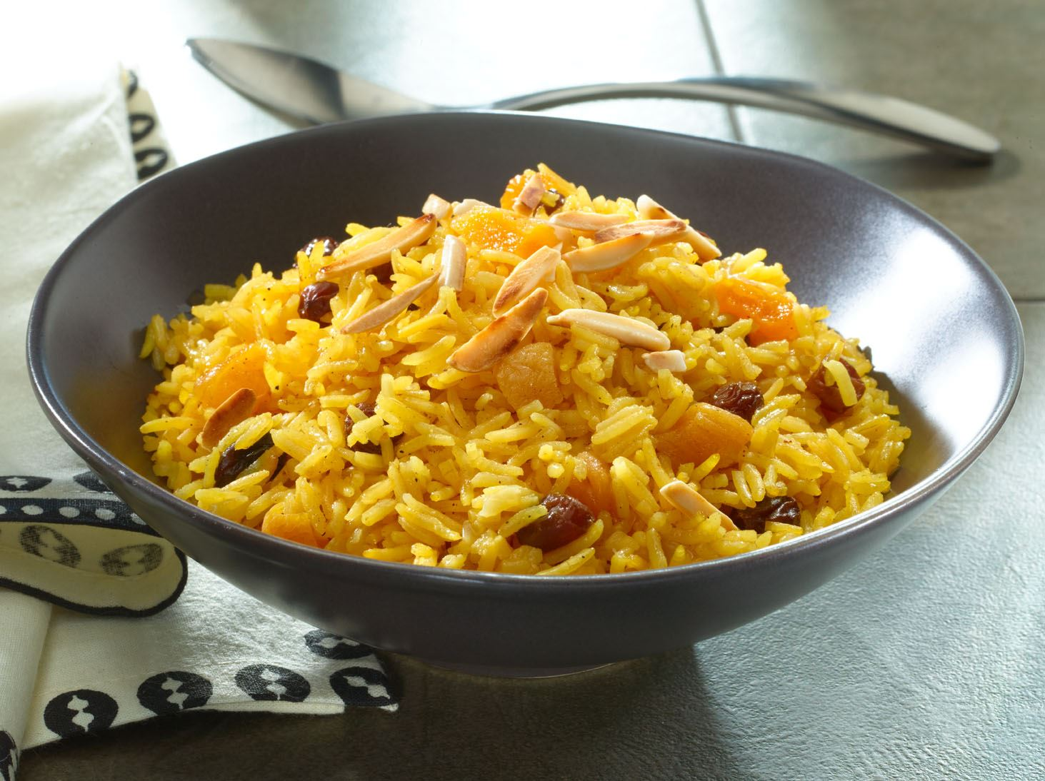 Golden Pilaf with Apricots, Raisins and Almonds