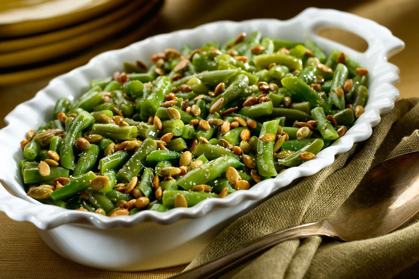 MyPlate Green Beans with Pepitas