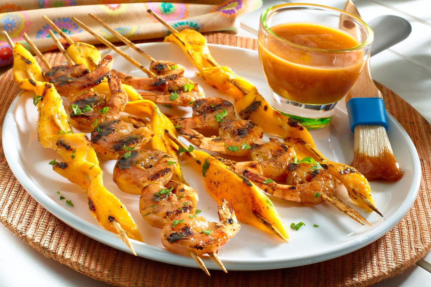 Guava-Glazed Shrimp Kebabs
