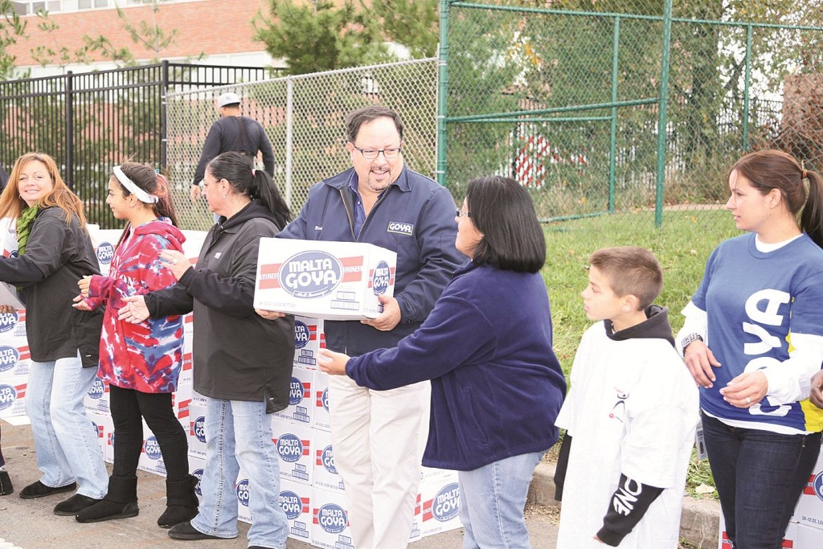 GOYA FOODS DONATES OVER 300,000 POUNDS OF FOOD & 25,000 MEALS TO VICTIMS OF HURRICANE SANDY IN NEW YORK & NEW JERSEY