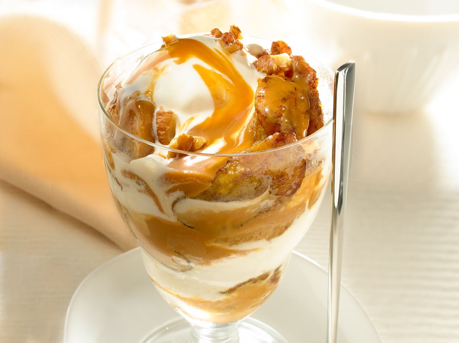 Sweet Plantain Sundae with Coconut Caramel Sauce
