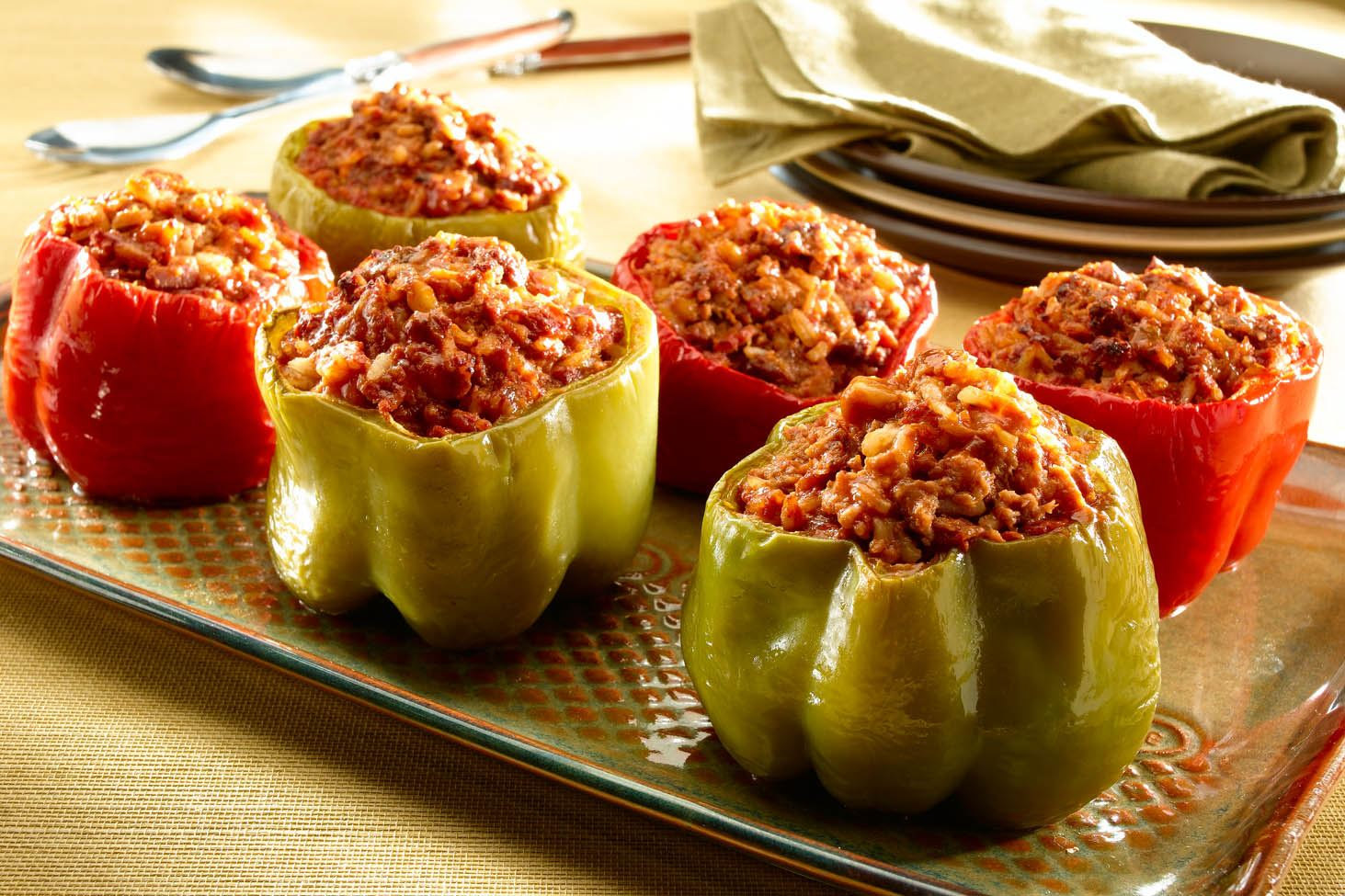 Spanish-Style Stuffed Peppers