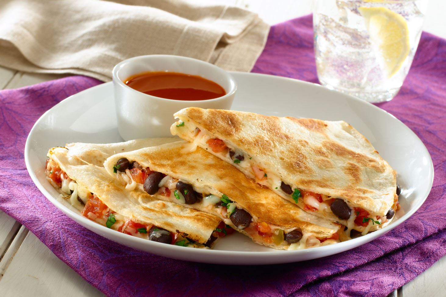MyPlate Black Bean Quesadillas