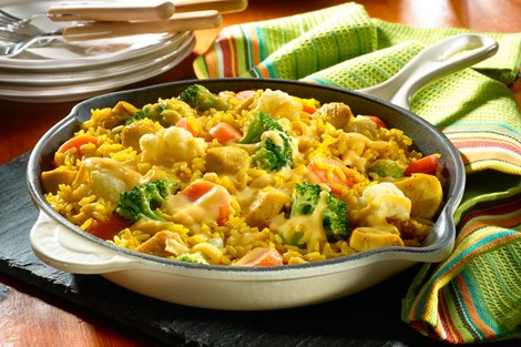 Cheesy Chicken And Vegetable Rice Recipes Goya Foods