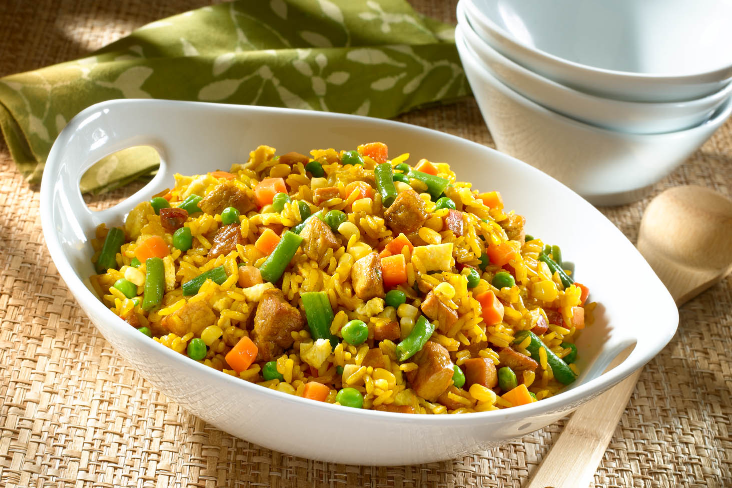 Stir-Fried Rice with Pork
