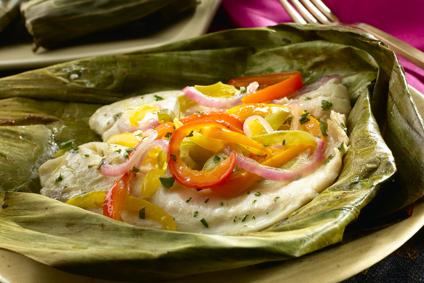 Tilapia in Banana Leaf