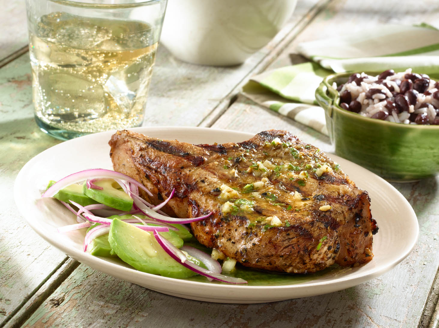 Grilled Mojo Pork Chops