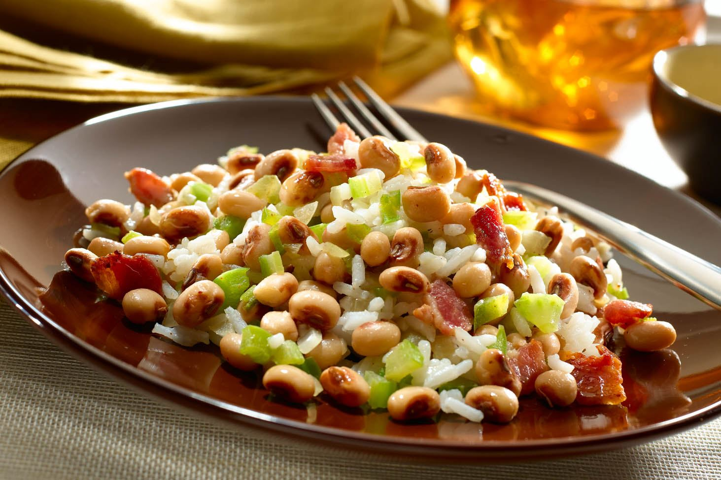 Hoppin' John with Black Eyed Peas
