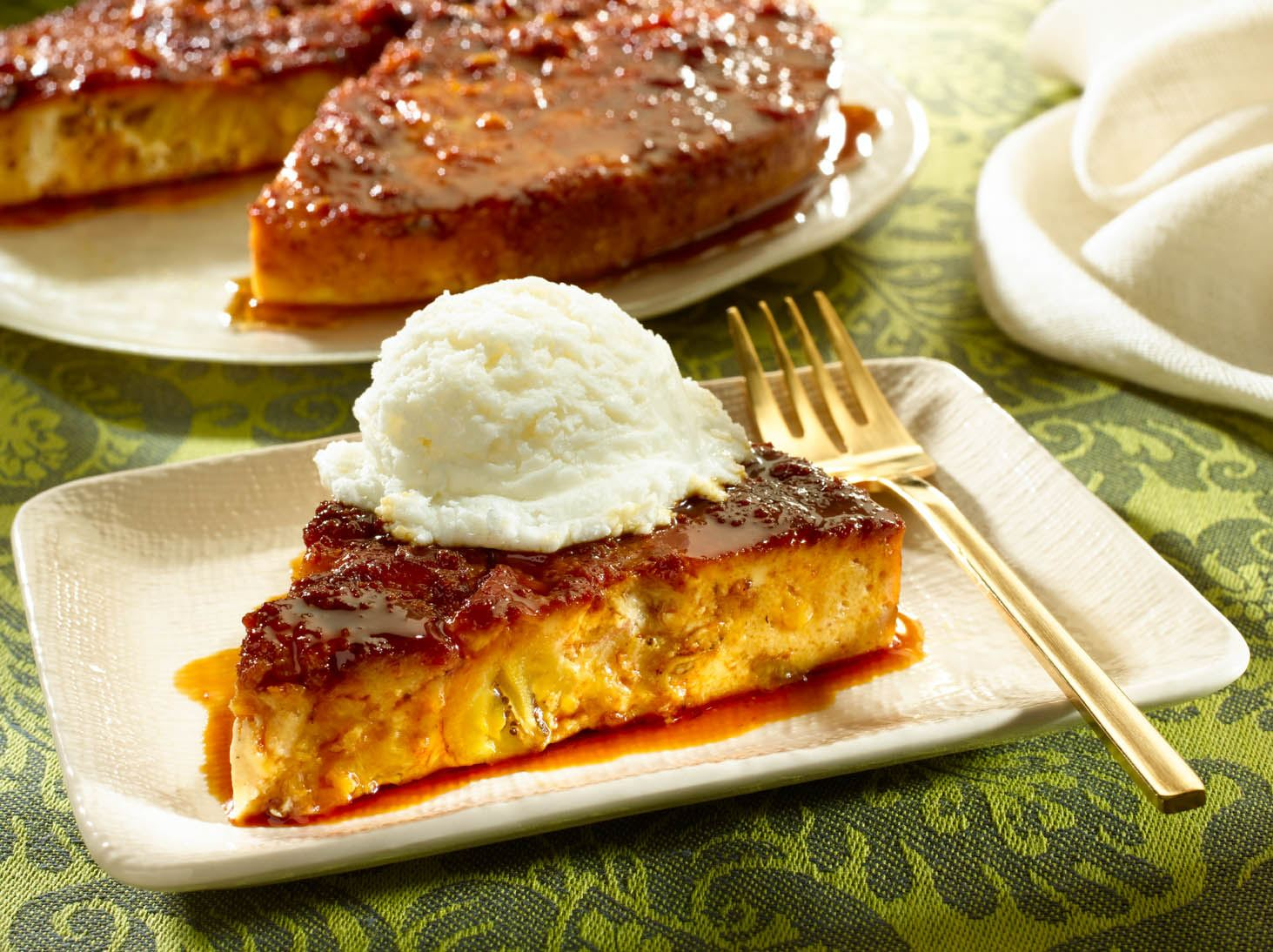 Sweet Plantain Bread Pudding
