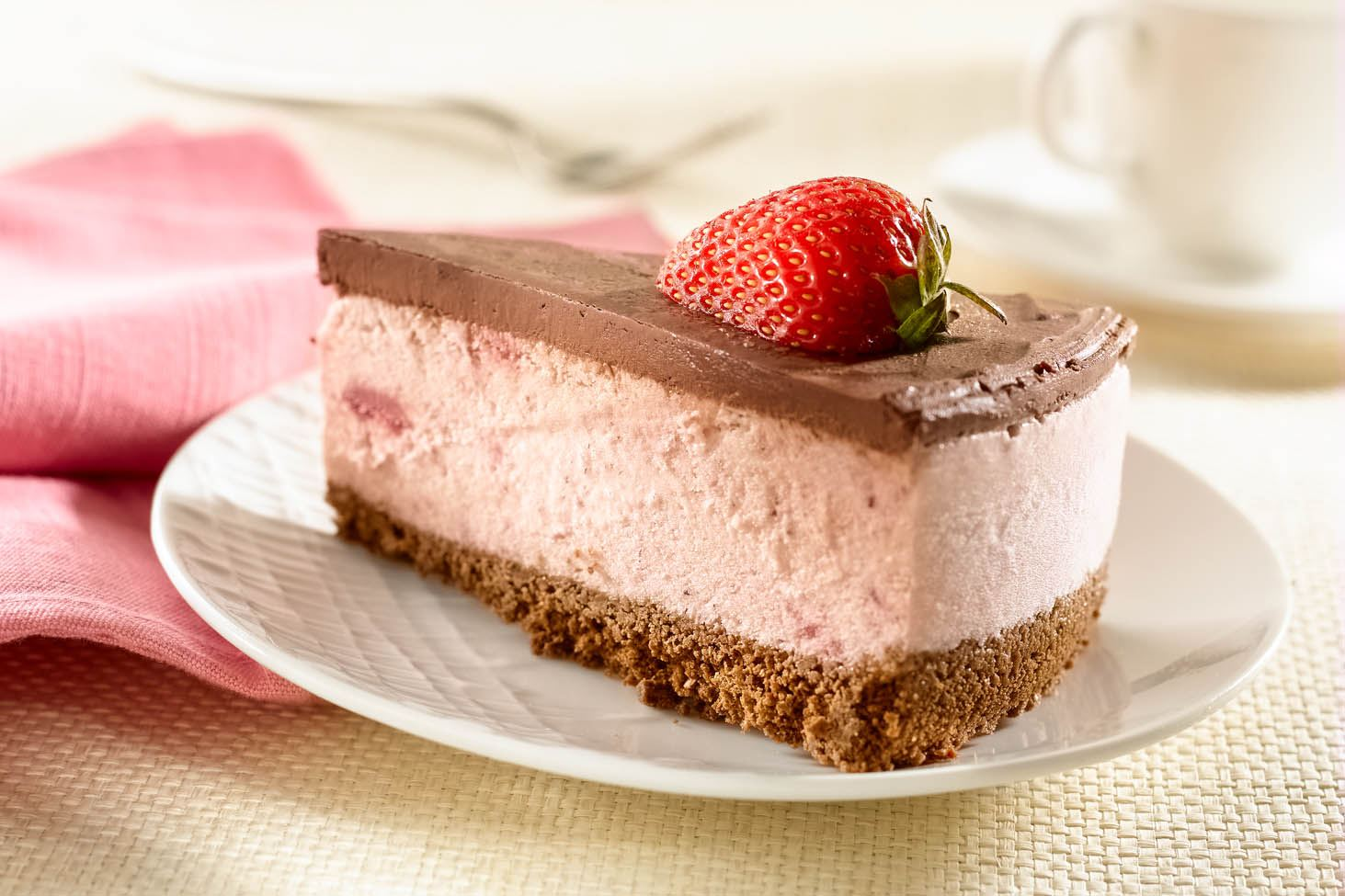 Strawberry and Chocolate Ice Cream Cake