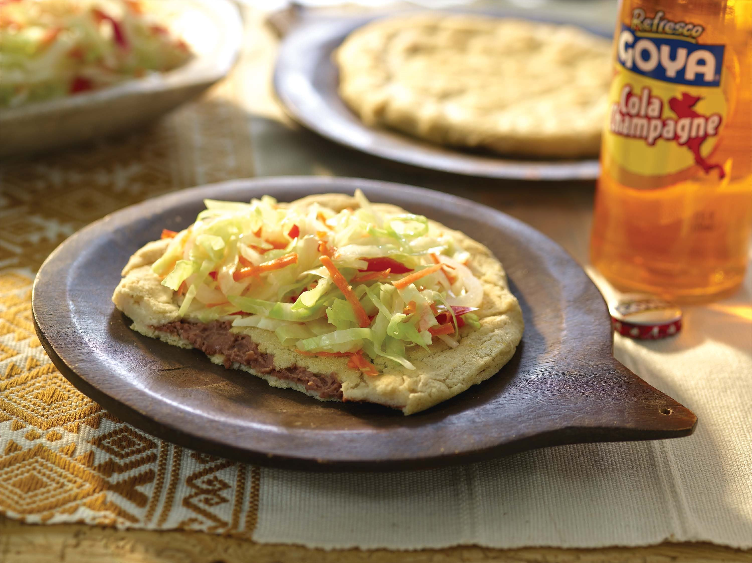 Salvadoran Pupusas with Cabbage Salad