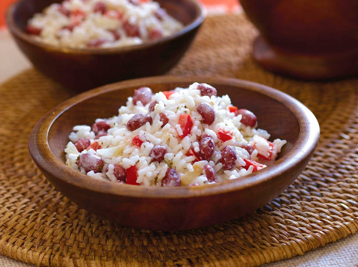 Guatemalan Rice & Beans with Coconut Milk