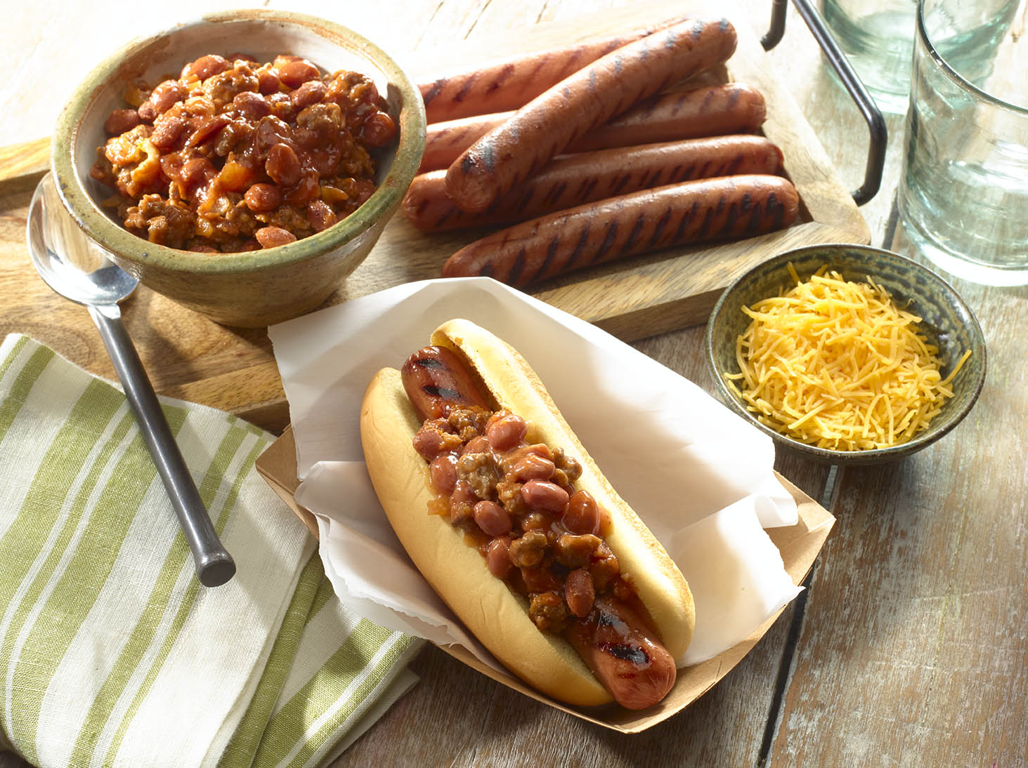 Hot Dogs con Chili