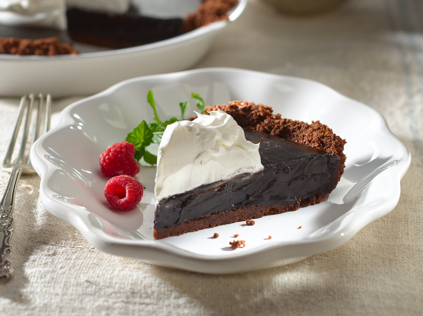 Coconut-Cream Chocolate Pie
