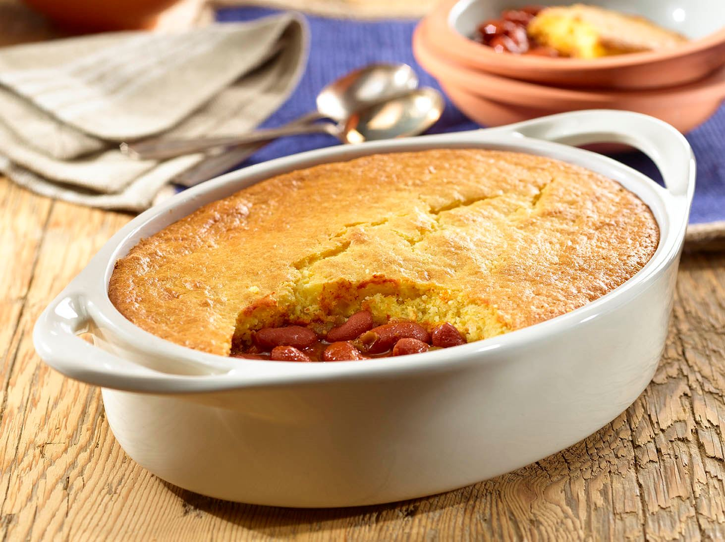 Cornbread-Topped Red Kidney Bean Chili