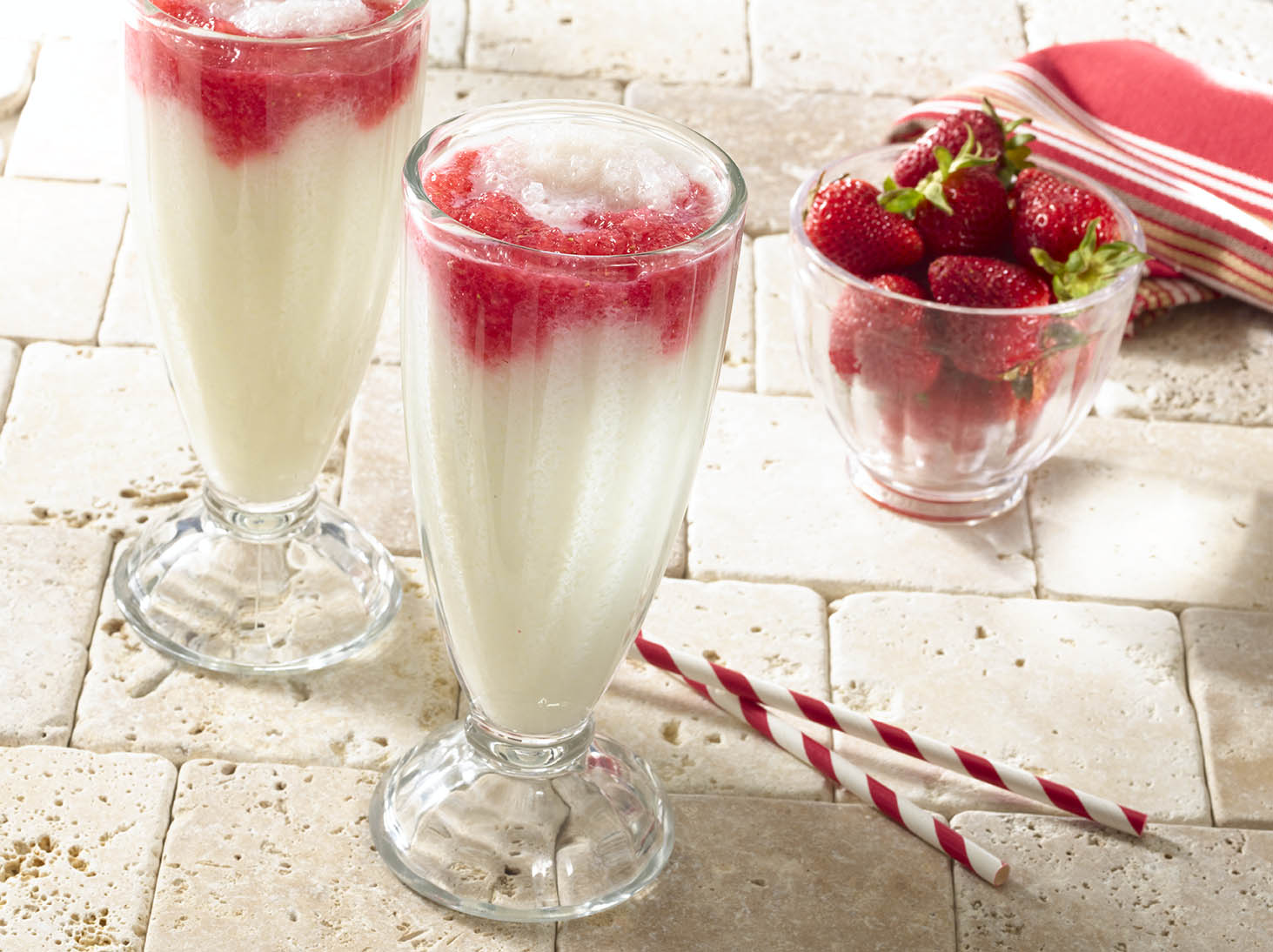 Red and White Sour Sop Shakes