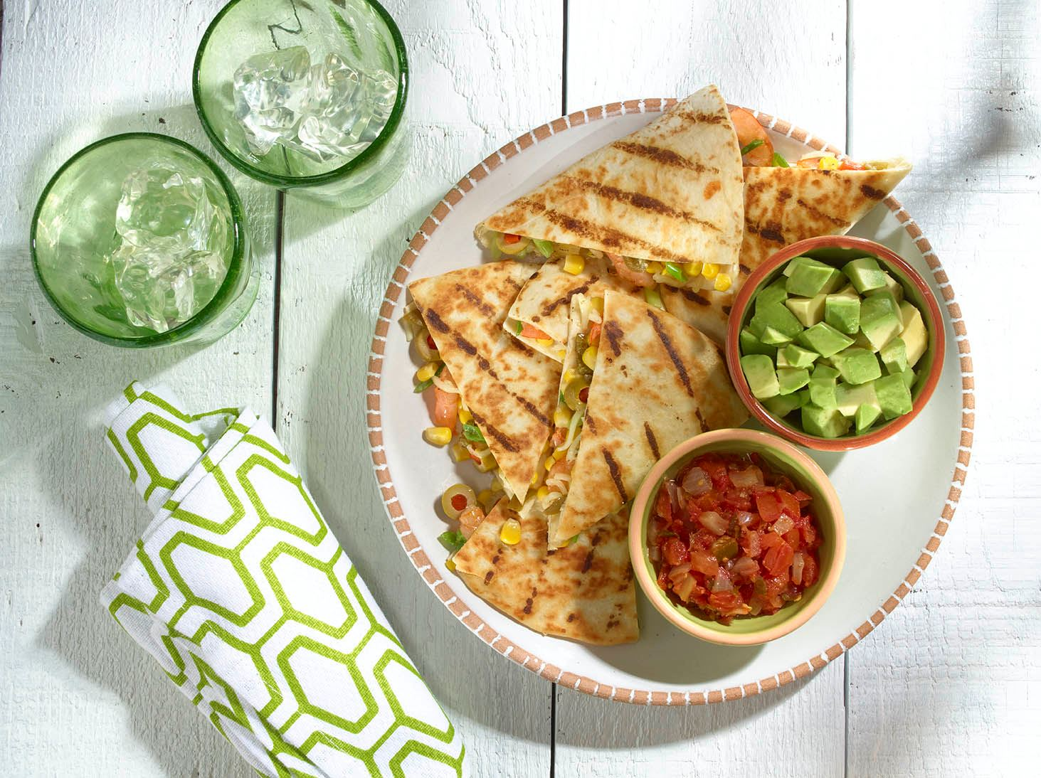 Spicy Shrimp and Corn Quesadillas