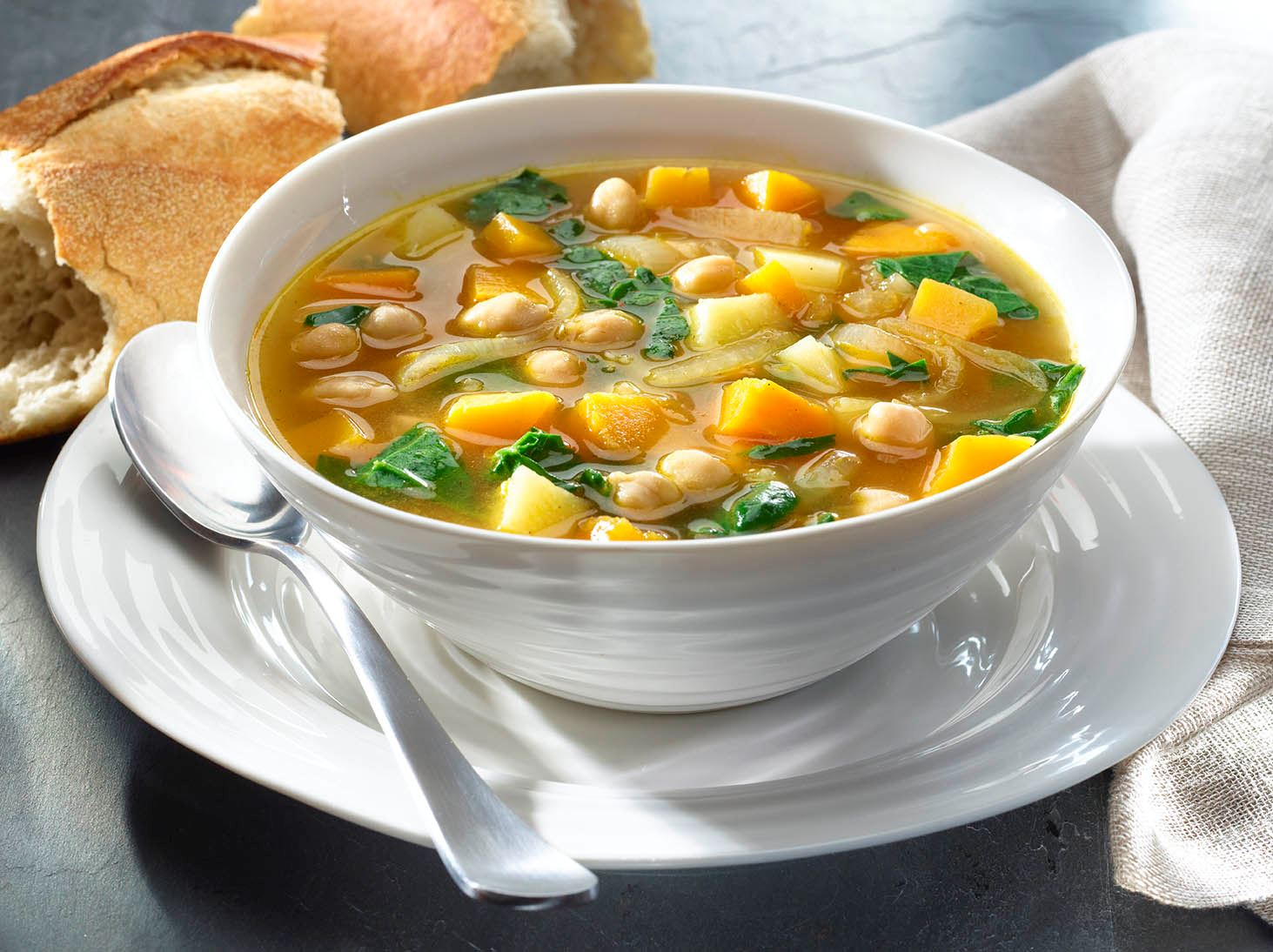 Winter Vegetable and Chick Pea Soup