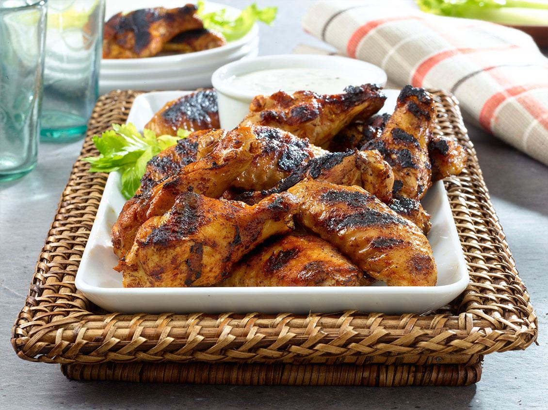 Grilled Chipotle Chicken Wings