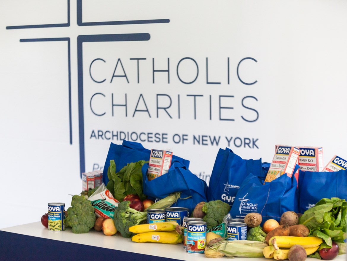 GOYA FOODS DONATES 300,000 POUNDS OF FOOD  TO CATHOLIC CHARITIES OF NEW YORK'S  NEW DISTRIBUTION CENTER