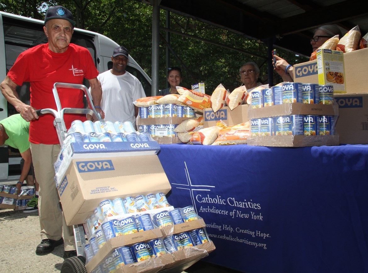 GOYA FOODS DONATES 150,000 POUNDS OF FOOD  IN HONOR OF HIS HOLINESS POPE FRANCIS'  VIST TO THE UNITED STATES