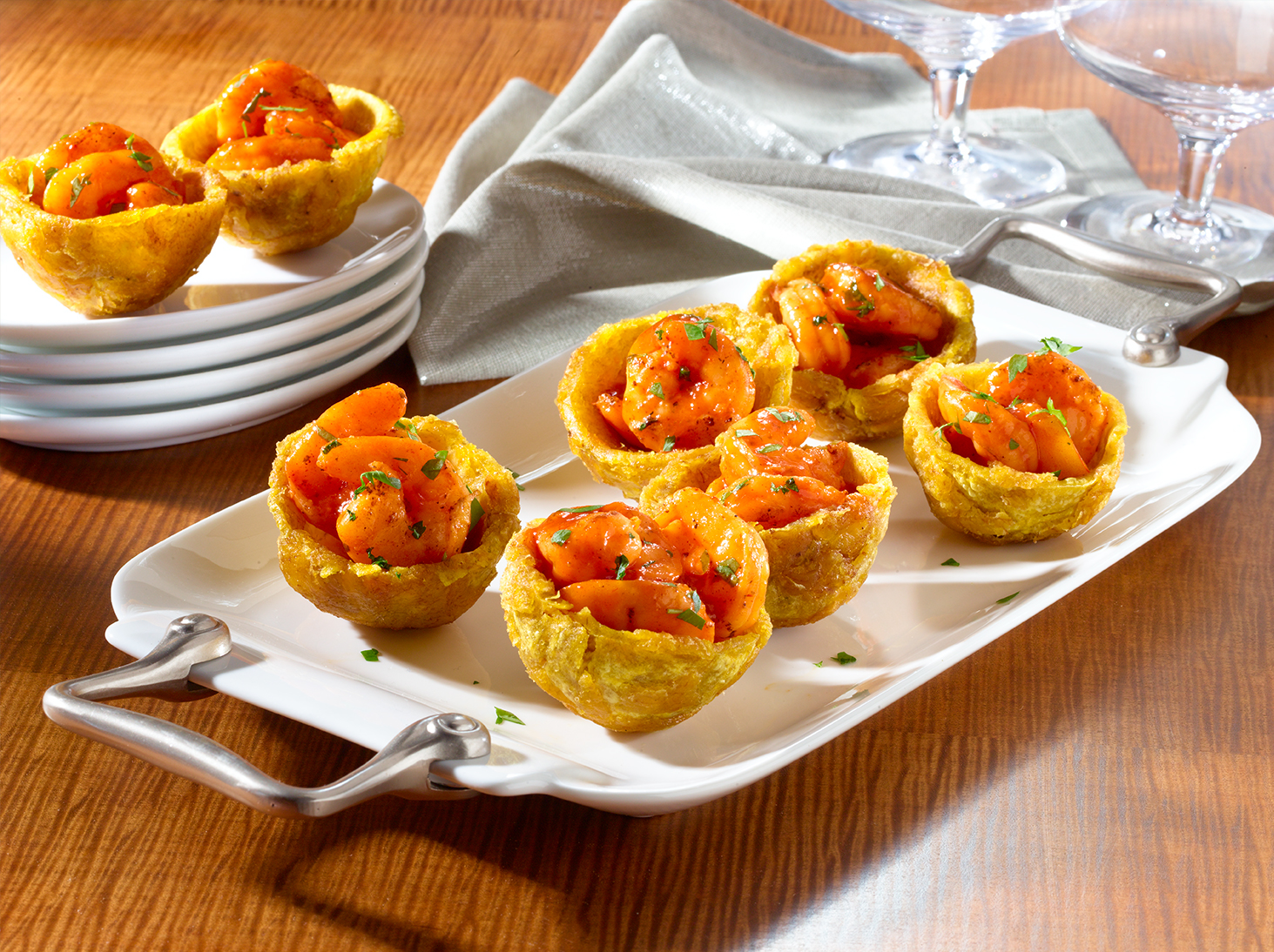 Seafood-Stuffed Plantain Cups