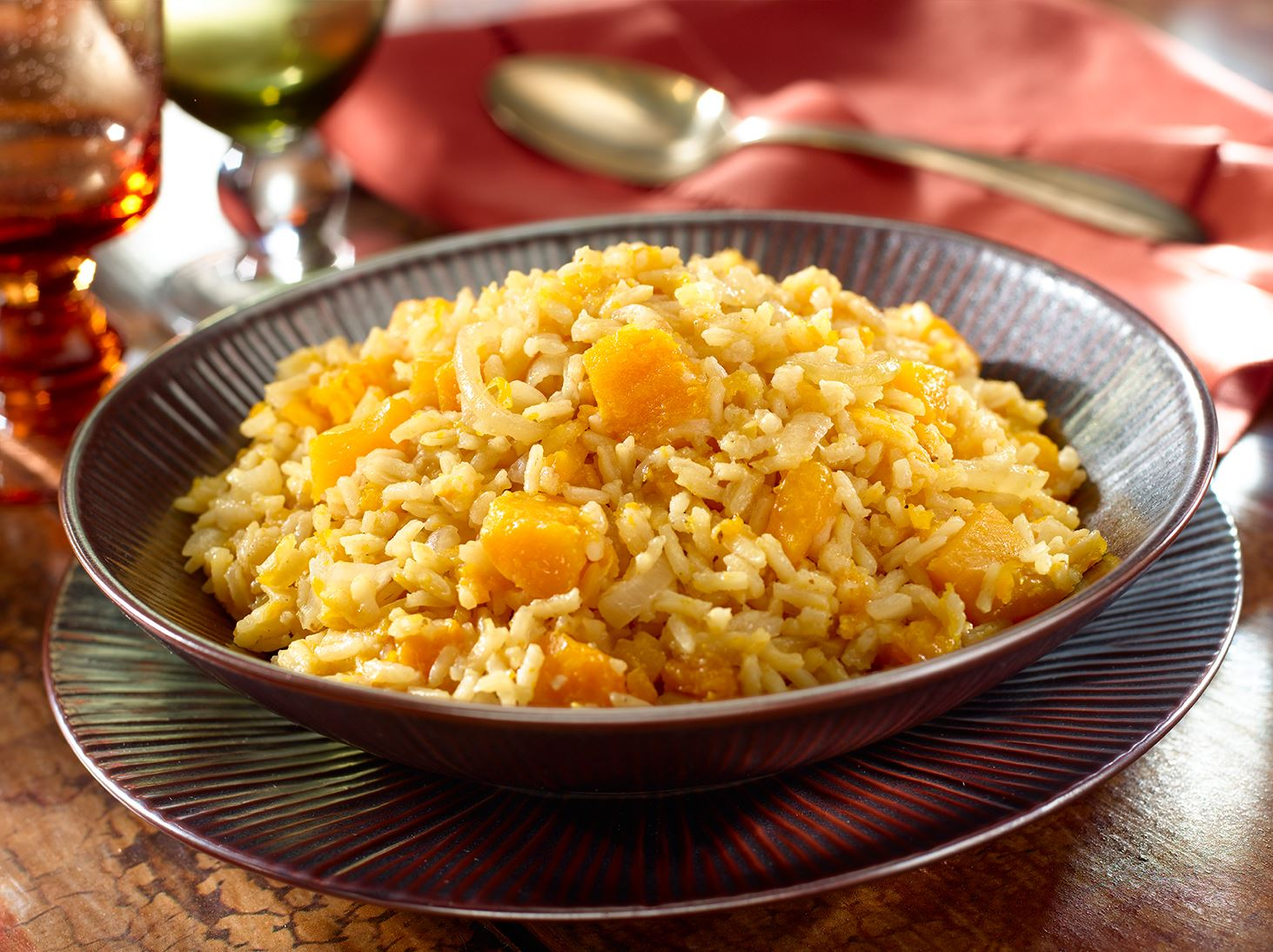 White Rice with Winter Squash