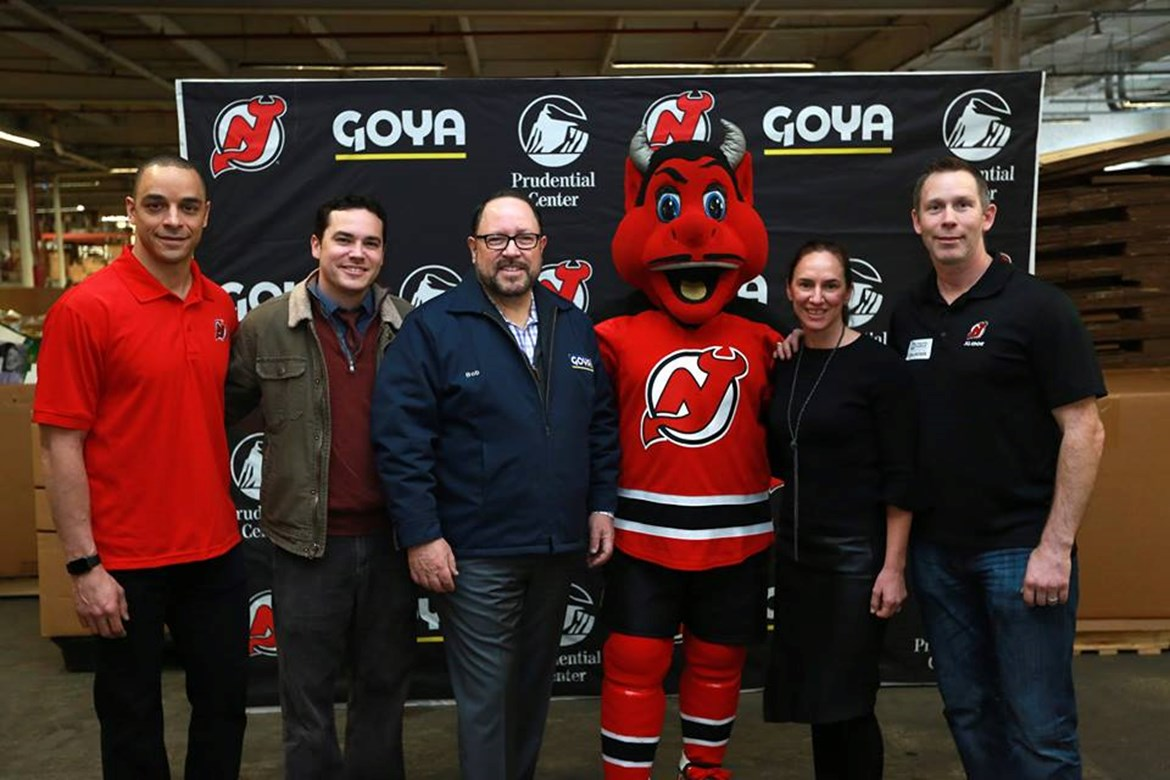 New Jersey Devils, Prudential Center and Goya Foods Donate 35,000 Pounds of Food to Community FoodBank of New Jersey