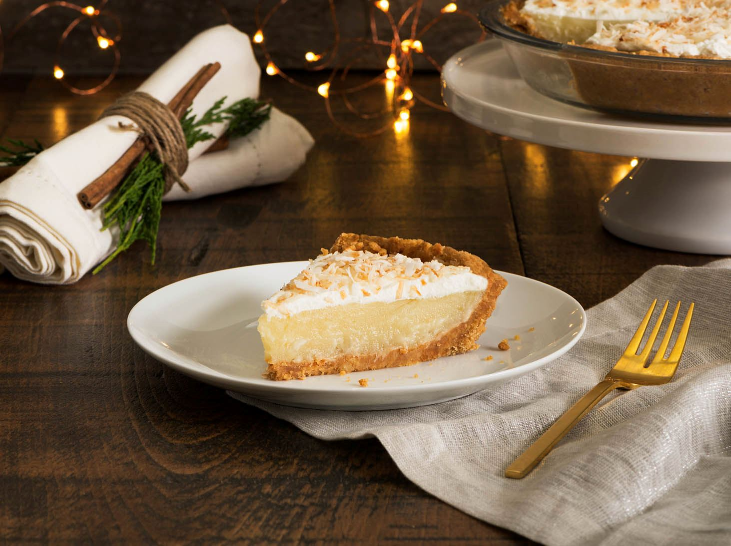 Coconut Eggnog Cream Pie