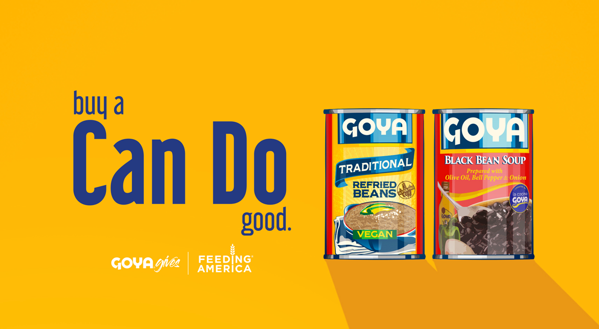 GOYA DONATES OVER 1.5 MILLION POUNDS OF FOOD  TO FEEDING AMERICA® AND LOCAL FOOD BANKS  AS PART OF THE GOYA GIVES 'CAN DO' CAMPAIGN